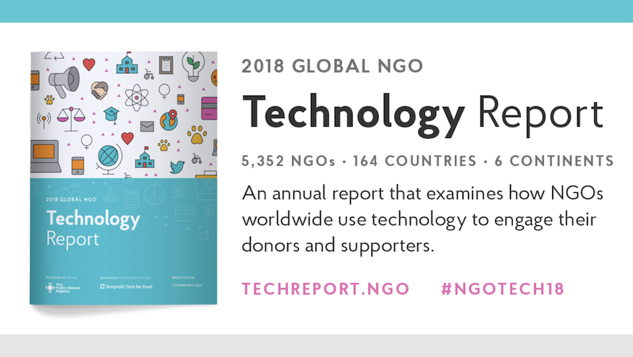 Global NGO Technology 2018 report cover