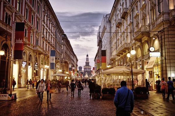 Italy Milan city centre