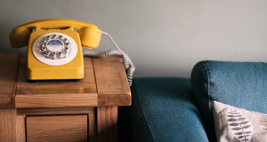 Yellow telephone