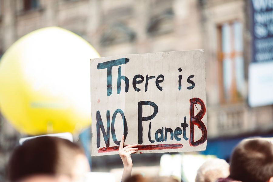 There is no planet b placard