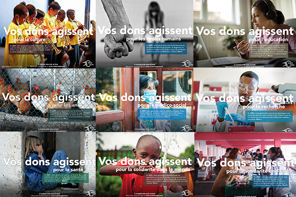 Campaign imagery for von dons Agissent